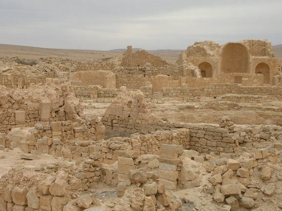 View towards the south square of Shivta (Photo by B. Moor)